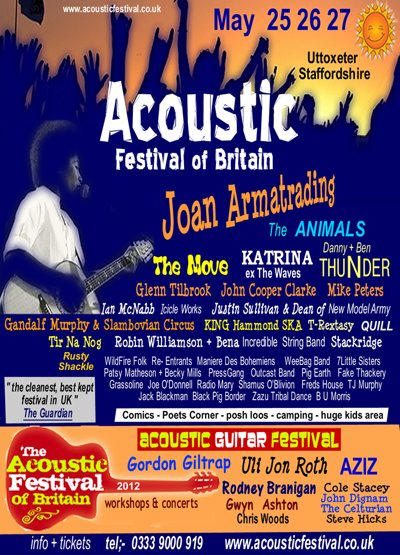 The Acoustic Festival of Britain 2012 Poster